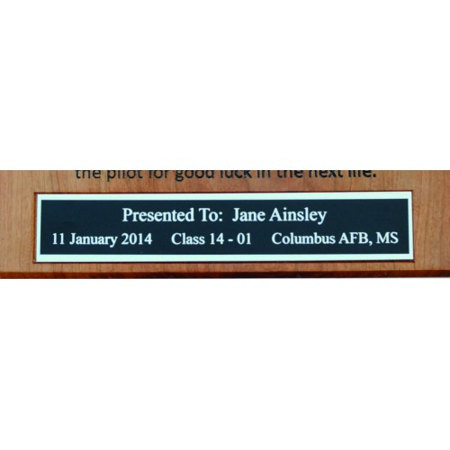 Nameplate - Breaking of the Wing Plaque